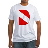 Scuba Flag Letter D Fitted T-Shirt
