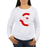 Scuba Flag Euro Sign Women's Long Sleeve T-Shirt