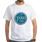 10000 Dives Milestone White T-Shirt