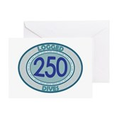 250 Logged Dives Greeting Card