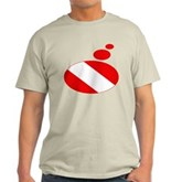 Thought Bubble Dive Flag Light T-Shirt