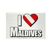 Scuba: I Love Maldives Rectangle Magnet
