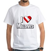 Scuba: I Love Maldives White T-Shirt