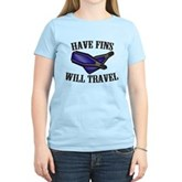Have Fins Will Travel Women's Light T-Shirt