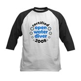 Open Water Diver 2008 Kids Baseball Jersey