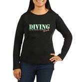 Diving Slut Women's Long Sleeve Dark T-Shirt