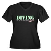 Diving Slut Women's Plus Size V-Neck Dark T-Shirt