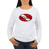 Scuba Oval Dive Flag Women's Long Sleeve T-Shirt