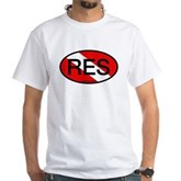 RES Oval Scuba Flag White T-Shirt