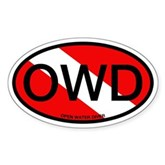OWD Oval Dive Flag Oval Sticker