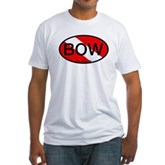 BOW Oval Dive Flag Fitted T-Shirt