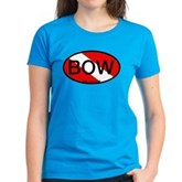 BOW Oval Dive Flag Women's Dark T-Shirt
