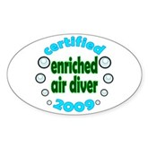 Nitrox Diver 2009 Oval Sticker