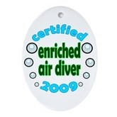 Nitrox Diver 2009 Oval Ornament