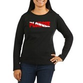 Plongee French Scuba Flag Women's Long Sleeve Dark