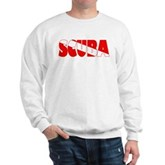 Scuba Text Flag Sweatshirt