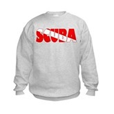 Scuba Text Flag Kids Sweatshirt
