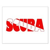 Scuba Text Flag Small Poster