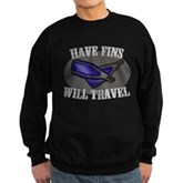 Have Fins Will Travel Sweatshirt (dark)