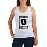 Rated D: Diver Women's Tank Top
