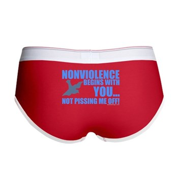 Nonviolence Begins with You... Women's Boy Brief