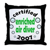 Nitrox Diver 2007 Throw Pillow